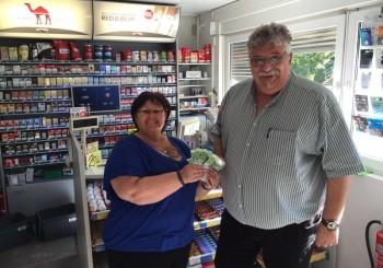 """500,oo € Spende von der """"Tankstelle am Saar Basar"""""""